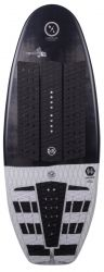 Hyperlite Satellite Wakesurf Board 2021 - Black/White - Top