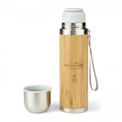 Northcore Bamboo Stainless Steel Thermos Flask with Mug - 360ml