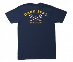 Dark Seas Headmaster T Shirt in Navy/Gold
