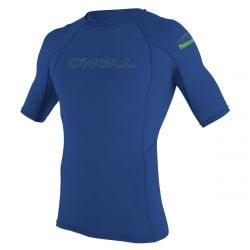 O'Neill Youth Basic Skins Short Sleeve Rash Vest 2021 - Pacific