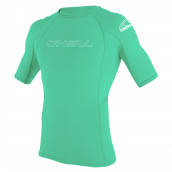 O'Neill Youth Basic Skins Short Sleeve Rash Vest 2021 - Light Aqua