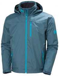 Helly Hansen Mens Crew Hooded Midlayer Sailing Jacket 2021 - Orion Blue  - Front