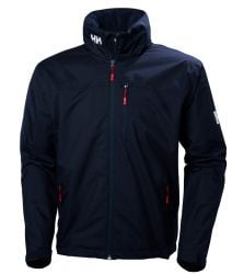 Helly Hansen Mens Crew Hooded  Sailing Jacket 2021 - Navy - Front