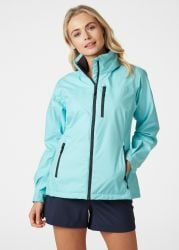Helly Hansen Womens Crew Hooded  Sailing Jacket 2021 -  Glacier Blue - On Body Front