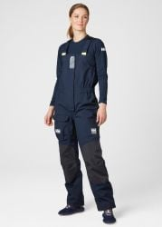 Helly Hansen Womens Pier Bib Sailing Trousers - Navy - front