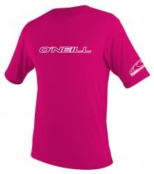 O'Neill Youth Basic S/S Rash Tee 2020 - Pink