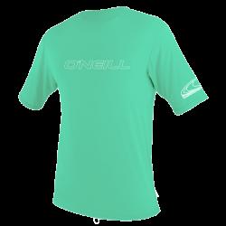 O'Neill Youth Basic Skins Short Sleeve Sun Shirt  2021 - Light Aqua
