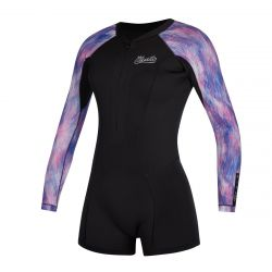Mystic Diva 2/2mm Long Arm Womens Shorty Wetsuit 2021 - Purple