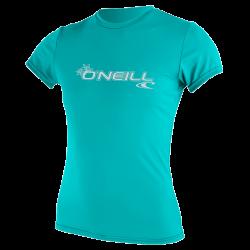 O'Neill Premium Skins Womens Sun Shirt 2021 - Light Aqua