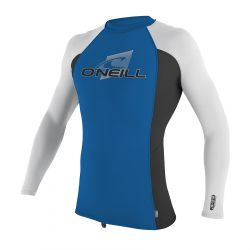 O'Neill Skins Long Sleeve Youth Rash Vest 2020 - Ocean