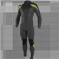 O'Neill Epic 5/4mm Mens Back Zip Winter Wetsuit 2022 - Gunmetal Dayglo