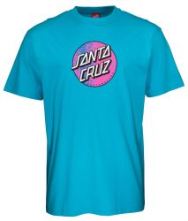 Santa Cruz Scales Dot T-Shirt in Aqua