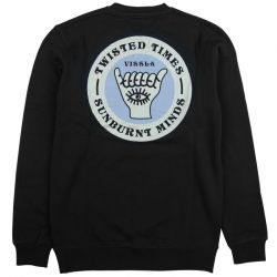 Vissla Twisted Digits Crew Sweatshirt - Phantom