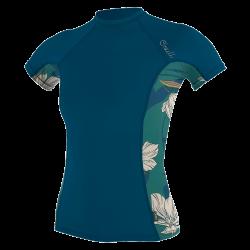 O'Neill Side Print Short Sleeve Womens Rash Vest 2021 - French Navy
