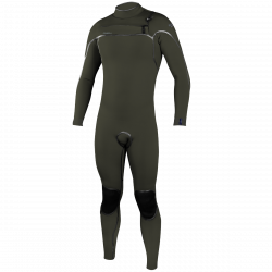 O'Neill Psycho One 3/2mm Chest Zip Mens Wetsuit 2021 - Ghost Green