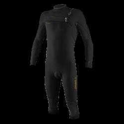 O'Neill Hyperfreak 4/3+mm Overknee Chest Zip Wetsuit 2021 - Black