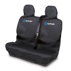 Surflogic Double Waterproof Car Seat Cover -  Black - Front