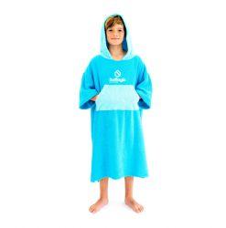 Surflogic Junior Poncho Changing Towel - Cyan/Turquoise