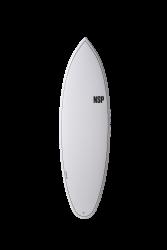 "NSP Elements Tinder 6'6"" Surfboard - White"