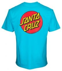 Santa Cruz Classic Dot Chest T-Shirt in Aqua