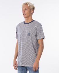 Rip Curl SWC Channel Stripe Tee in Stone