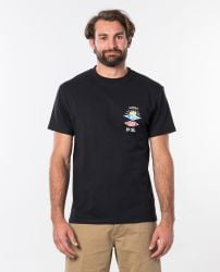 Rip Curl Search Icon Tee in Black