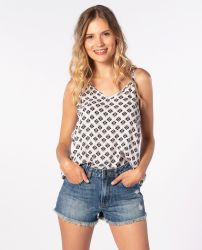 Rip Curl Womens Odesha Geo Tank in White
