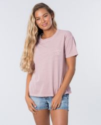 Rip Curl Womens The Searchers Tee in Dusk Pink