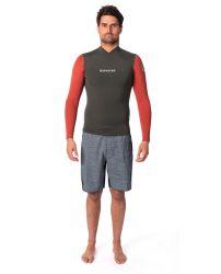 Rip Curl Dawn Patrol Mens 1.5mm Long Sleeve Wetsuit Jacket - Khaki