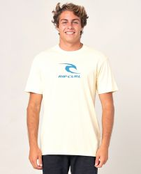 Rip Curl Icon Used T-Shirt in Pale Yellow