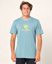 Rip Curl Icon Used T-Shirt in Mid Blue