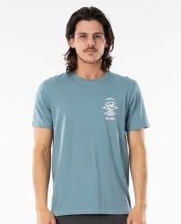 Rip Curl Search Essential T-Shirt - Mid Blue