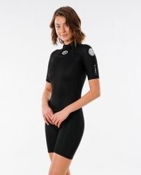 Rip Curl Freelite Short Sleeve Womens Shorty Wetsuit 2021 - Black