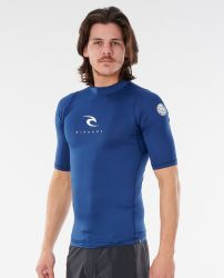 Rip Curl Corpo Short Sleeve Mens Rash Vest 2021 - Navy