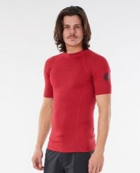 Rip Curl Dawn Patrol Mens Rash Vest 2021 - Red