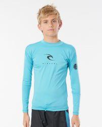 Rip Curl Boys Corpo Long Sleeve UV Rash Vest 2021 - Blue