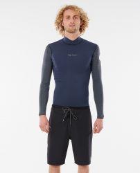 Rip Curl Mens Dawn Patrol Reversible 1.5mm Long Sleeve Wetsuit Jacket 2021 - Slate - Side One Front