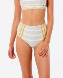 Rip Curl Women's Salty Daze High Waisted Good Bikini Pant in Gold