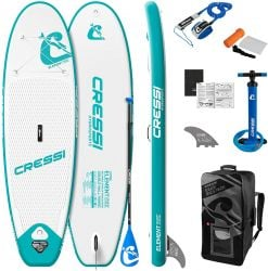 """Cressi Element Allround 8'2"""" ISUP Stand Up Paddle Board Set 2021 - Green/White"""