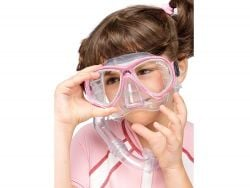 Cressi Perla + Minigringo Junior Combo Mask and Snorkel in Clear Pink