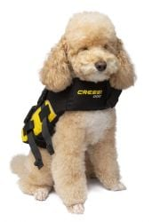 Cressi Dog Life Jacket - Black/Yellow