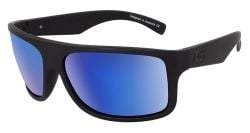 Dirty Dog Anvil Polarised Sunglasses - Satin Black/Blue Fusion
