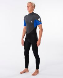 Rip Curl Omega 3/2mm Mens Short Sleeve Wetsuit 2021 - Blue