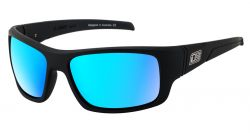 Dirty Dog Stray Polarised Sunglasses - Satin Black/Ice Blue Mirror