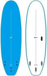 Foamie Flow Rider 8ft Extra Wide Softboard -  Sky Blue/White
