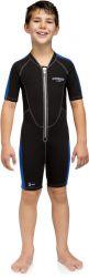 Cressi Lido Junior 2mm Shorty Wetsuit 2021 - Black - Front