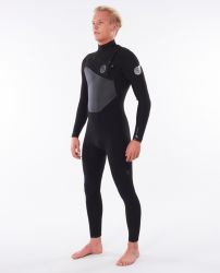 Rip Curl Flashbomb 3/2mm Chest Zip Mens Wetsuit 2021 - Black - Front