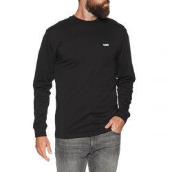 Vans Left Chest Hit Mens Logo Long Sleeve T-Shirt 2021 - Black/White