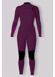 Sisstr 7 Seas 3/2mm Chest Zip Womens Wetsuit - Bosyenberry