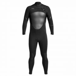 NEW Xcel Axis X Mens 5/4mm Chest Zip Winter Wetsuit 2021 - Black - Full View
